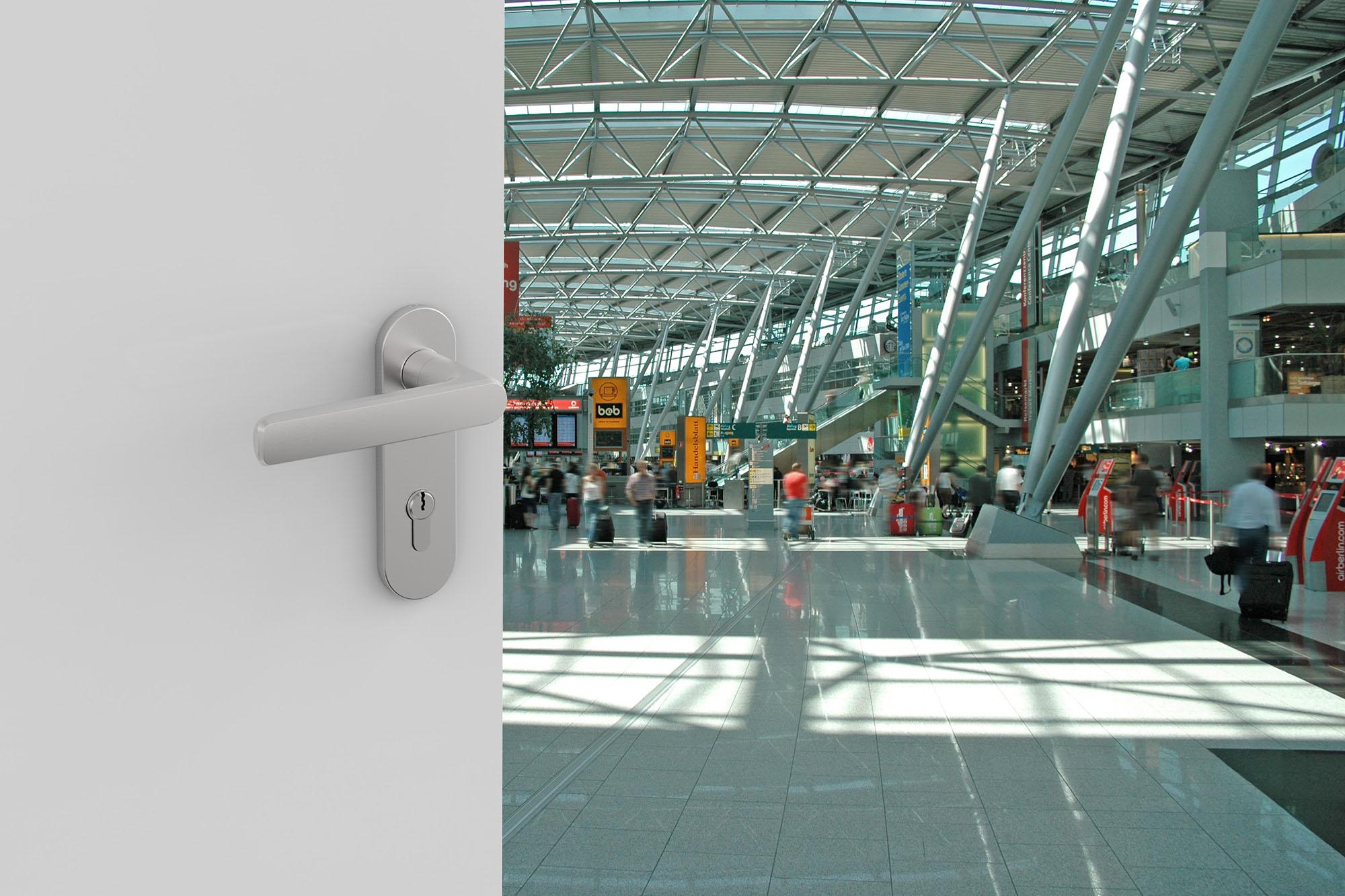 Linie OGRO verwendet im Internationalem Flughafen Airport Düsseldorf
