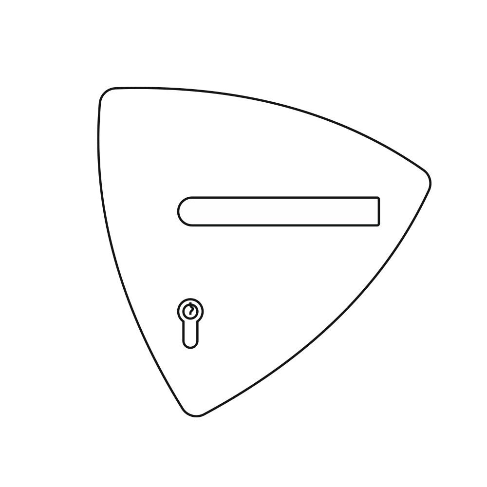 OGRO ZL Laser, Amorphe Form Türschild Illustration