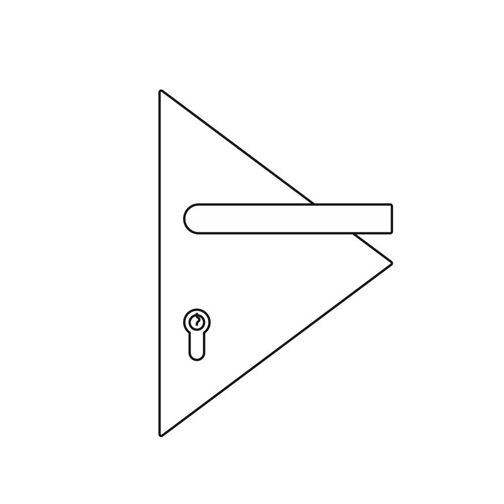OGRO ZL Laser, Dreieck Türschild Illustration